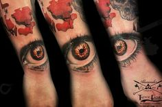 Done today . Realistic red eye tattoo Made by Popescu Alexander  #realistictattoo #eye_tattoo