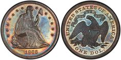 It is--- the Seated Liberty 1866 U. S. Silver Dollar....