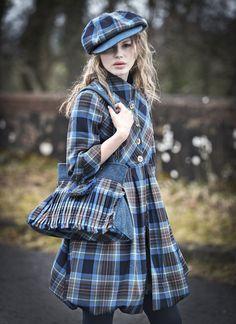 Tartan Spirit Couture Collection by Joyce Young OBE Tartan Fashion, Look Fashion, Autumn Fashion, Fashion Outfits, Scottish Plaid, Scottish Tartans, Tartan Mode, Tweed Ride, Scottish Fashion