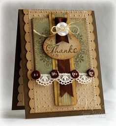 Vintage Thanks by PickleTree - Cards and Paper Crafts at Splitcoaststampers