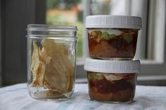 Jar Lunch: 7 layer dip with baked tortilla strips   krista and jess