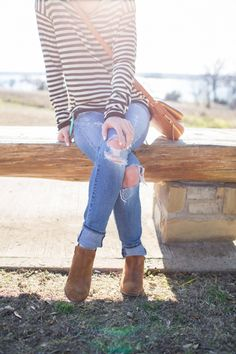 Stripes and Booties • BrightonTheDay