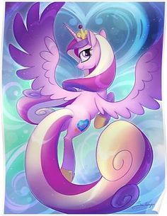 'Cadence' Poster by EchoesLight Mlp, My Little Pony Pictures, Great Pictures, Princess Cadence, My Little Pony Wallpaper, Fanart, Princess Pictures, Goddess Of Love, Framed Prints
