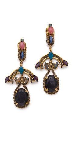 Erickson Beamon Rear Window Chandelier Earrings
