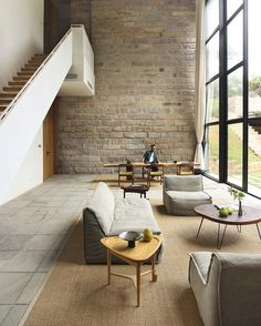 Crisp clean wall, brick/stone contrast and light to accentuate line and light  Architecture & Design Magazine (@d.signers) on Instagram:  😍Design by FM.X Interior Design. ___________  Location: Fujian #China  Photo by Wu…""