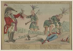 William Charles -- A Scene on the Frontiers as Practiced by the Humane British and Their Worthy Allies, 1812.