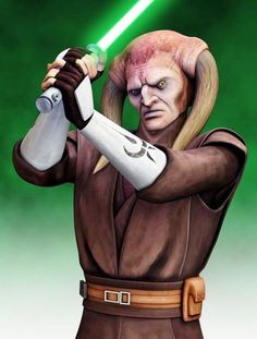 Saesee Tiin: Was a male Iktotchi Jedi Master and a member of the Jedi High Council in the last days of the Galactic Republic. Having apprenticed under the esteemed Jedi Master Omo Bouri, Tiin rarely spoke and kept to himself. Never choosing to take a Padawan himself, Tiin took the rank of Jedi General in the Grand Army of the Republic during the Clone Wars.