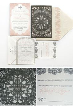Luxury Wedding Invitations by Ceci New York - Our Muse - Dreamy Mexican Wedding - Be inspired by Indra & Michael's dreamy Mexican wedding - letterpress printing, laser-cut, wedding, invitations