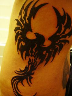 Phoenix tattoo by Shade-Dancer on DeviantArt, Phoenix tattoo by Shade-Dancer on DeviantArt, You can find Phoe. Father Tattoos, New Tattoos, Small Tattoos, Tattoos For Guys, Phönix Tattoo, Mark Tattoo, Chest Tattoo, Tribal Phoenix Tattoo, Tribal Dragon Tattoos
