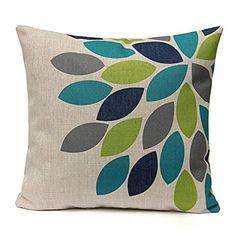 Pillow case, Ammazona Home Decor Square Linen Printed Waist Throw Pillow Case Sofa Car Cushion Cover (E)