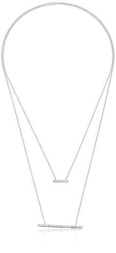 Stitch Fix gorjana Mave Hammered Silver Double Pendant Necklace  Buy it on Amazon for less! http://amzn.to/2a5x0F8