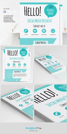 Creative Resume Template Berenices By Rockstar Design On