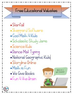 Free educational websites for kids learning websites for kids, websites for teachers, kids learning Free Math Websites, Educational Websites For Kids, Kids Websites, Educational Games, Kindergarten Websites, Educational Leadership, Educational Technology, Math 4 Kids, Fun Math