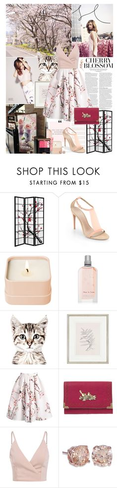 """""""Cherry blossom"""" by amethystes ❤ liked on Polyvore featuring ASOS, Burberry, Henri Bendel, L'Occitane, Jill Stuart, KEEP ME, Country Curtains, Nica, Kanebo and Spring"""