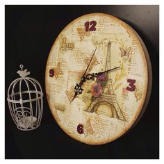 Paris themed decoupaged clock !!
