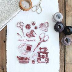 "Pack de sellos ""Costura"". www.mrwonderfulshop.es"