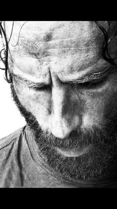 """andy-clutterbuck: """"""""But what the world is out there isn't what you saw on TV. It is much much worse and it changes you. Either into one of them or something a lot less than the person you were. The Walking Dead 2, Walker Stalker, Stuff And Thangs, Andrew Lincoln, Rick Grimes, Mans World, Dead Man, Daryl Dixon, British Actors"""