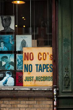 NO CDs NO TAPES - JUST RECORDS