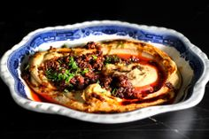 """Woodland Fire Sichuan Hummus, via Lady and Pups. """"Tonight… LET'S SET THE WORLD ON FIRE"""" Ahhh yes let's! I'll DEFINITELY try this one!"""
