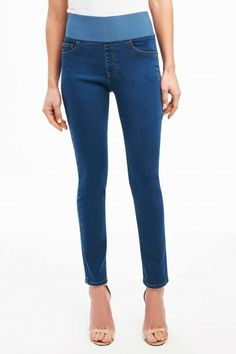 Denim to live in. The waistband offers built-in control for a smooth silhouette with all the comfort of your favorite jeans. - Bottoms & Dresses - National Cowboy Museum