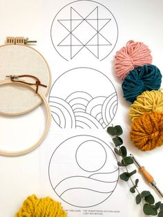 Punch Needle Patterns, Embroidery Patterns Free, Embroidery For Beginners, Embroidery Hoop Art, Rug Hooking Patterns, Free Pattern, Etsy, Crafts, Printing