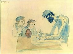 """""""A Simple Meal"""", 1904, Pablo Picasso."""