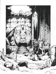 """Illustration pour le roman """"Les Passages"""" écrit par Kevin Lepage et illustré par Thibault colon de Franciosi et Kevin Lepage"""