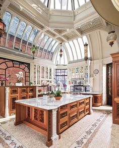 Home Interior Design — Conservatory Kitchen, downtown Boston Luxury Kitchen Design, Best Kitchen Designs, Luxury Kitchens, Cool Kitchens, Home Interior Design, Kitchen Ideas, Kitchen Inspiration, Kitchen Decor, Interior Architecture