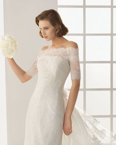 lace overlay // illusion neckline wedding dress