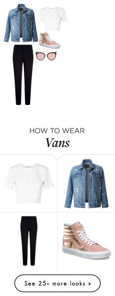 """and i will still be here, stargazing"" by youidiotsandwich on Polyvore featuring LE3NO, T By Alexander Wang, Escada Sport, Vans and Stephane + Christian"