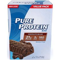 Pure Protein - Protein Bar Value Pack Chocolate Deluxe - 12 Bars oz. / 50 g each) With the Pure Protein Chocolate Del Best Tasting Protein Bars, Pure Protein Bars, Protein Blend, Protein Snacks, Milk Protein, Nutrition Plate, Nutrition Bars, Nutrition Month, Healthy Nutrition