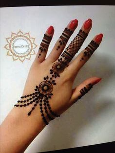 Very Simple Henna Hand Tattoos . Very Simple Henna Hand Tattoos . Simple Henna Designs, New Bridal Mehndi Designs, Best Mehndi Designs, Arabic Mehndi Designs, Beautiful Henna Designs, Mehndi Designs For Hands, Bridal Henna, Finger Henna Designs, Mehndi Images Simple