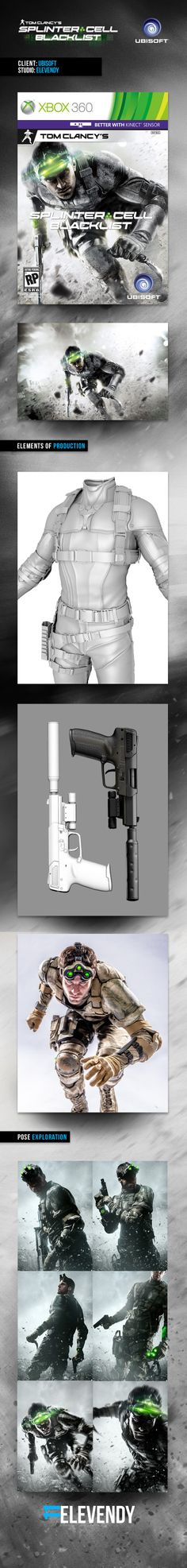 Pack art (Key Art) for Tom Clancy's Splinter Cell: Blacklist by Elevendy Studio #splinter #cell #Blacklist #tomclancy #video #game #ubisoft #www.infinitemarketing.info