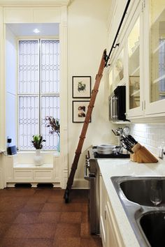 CORK FLOORS ~  Apartment Renovation - traditional - kitchen - new york - Francoise Bollack Architects