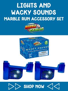 Lights & Wacky Sounds Marble Run Accessory Set Marble Toys, Steam Toys, Steam Learning, Math Stem, Inspired Learning, Child Smile, Button Cell, Learning Through Play, Patent Pending