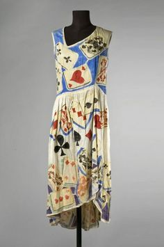 1920s playing card dress