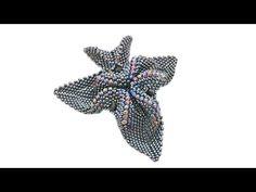 """Кулон из бисера """"Черная орхидея"""" - YouTube"""