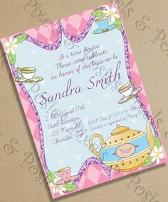 Custom Printable Party Invitation  Print Your by pixelsandposies, $10.00