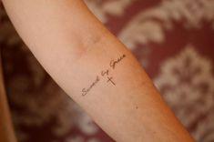 Tattoo Saved by Grace by mavis