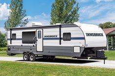 Camper Life, Truck Camper, Rv Campers, Rv Life, Custom Trailers, Rv Trailers, Van Life Blog, Roof Ladder, Mobile Home Parks