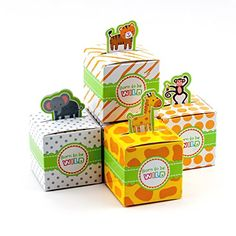 Adorox Small 24 Pcs Born To Be Wild Cute Jungle Safari Zoo Theme Child Bathe Favor Sweet Deal with Field Cute Birthday Ornament