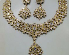 Gold necklace diamond necklace Antique style 20 by palaceofjewels