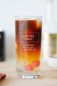 A new way to drink your coffee: The Coffee Tonic