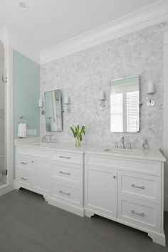 Bathroom Arabesque Wall Tile. Arabesque Wall Tile is Ann Sacks Eastern White Mosaics. Bathroom Arabesque Wall Tile.… (Top View Bathroom)