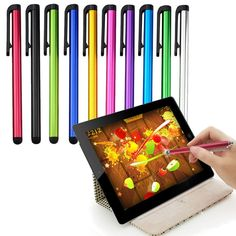 Huawei Union Stylus Pen, Huawei Valiant Stylus Pen, Huawei Vision Stylus Pen, Huawei Vitria Stylus Pen Capacitive Metal Touch Screen - 10 Pack *** Trust me, this is great! : Free Computer Accessories Peripherals