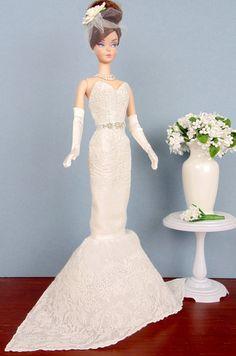Tres Chic Bride for Silkstone Barbie Victoire Roux & by HankieChic