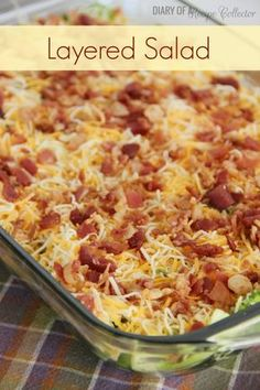 Layered Salad-Here's an awesome make-ahead salad great for potlucks or family gatherings.
