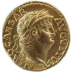 Portrait of Nero (Nero Claudius Caesar Augustus Germanicus) on obverse of Roman gold aureus. This is one of our oldest digital coin photos, taken 1st August 1999 with a Ricoh camera, resolution 640 x 480. I can't remember the model, possibly RDC1, it cost about $400 imported from the USA.