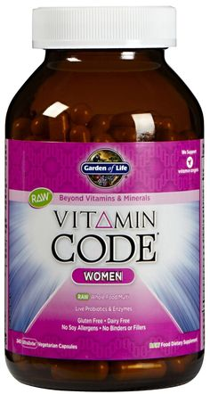some vitamins for women Good Multivitamin For Women, Best Multivitamin, Garden Of Life Vitamins, Live Probiotics, Vitamins For Women, Vitamins And Minerals, Nutella, Whole Food Recipes, Dairy Free