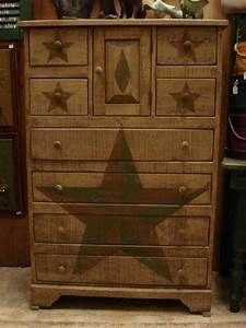 Amish Primitive Chest of Drawers Stars | Chest of Drawers ...